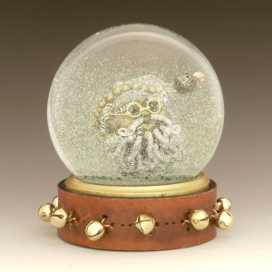 Twisted Santa snow globe, Camryn Forrest Designs, Denver, CO