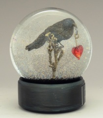 Ever More Raven snow globe by Camryn Forrest Designs, Denver, Colorado 2015