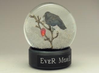 Ever More Raven snow globe by Camryn Forrest Designs, Denver, Colorado 2015