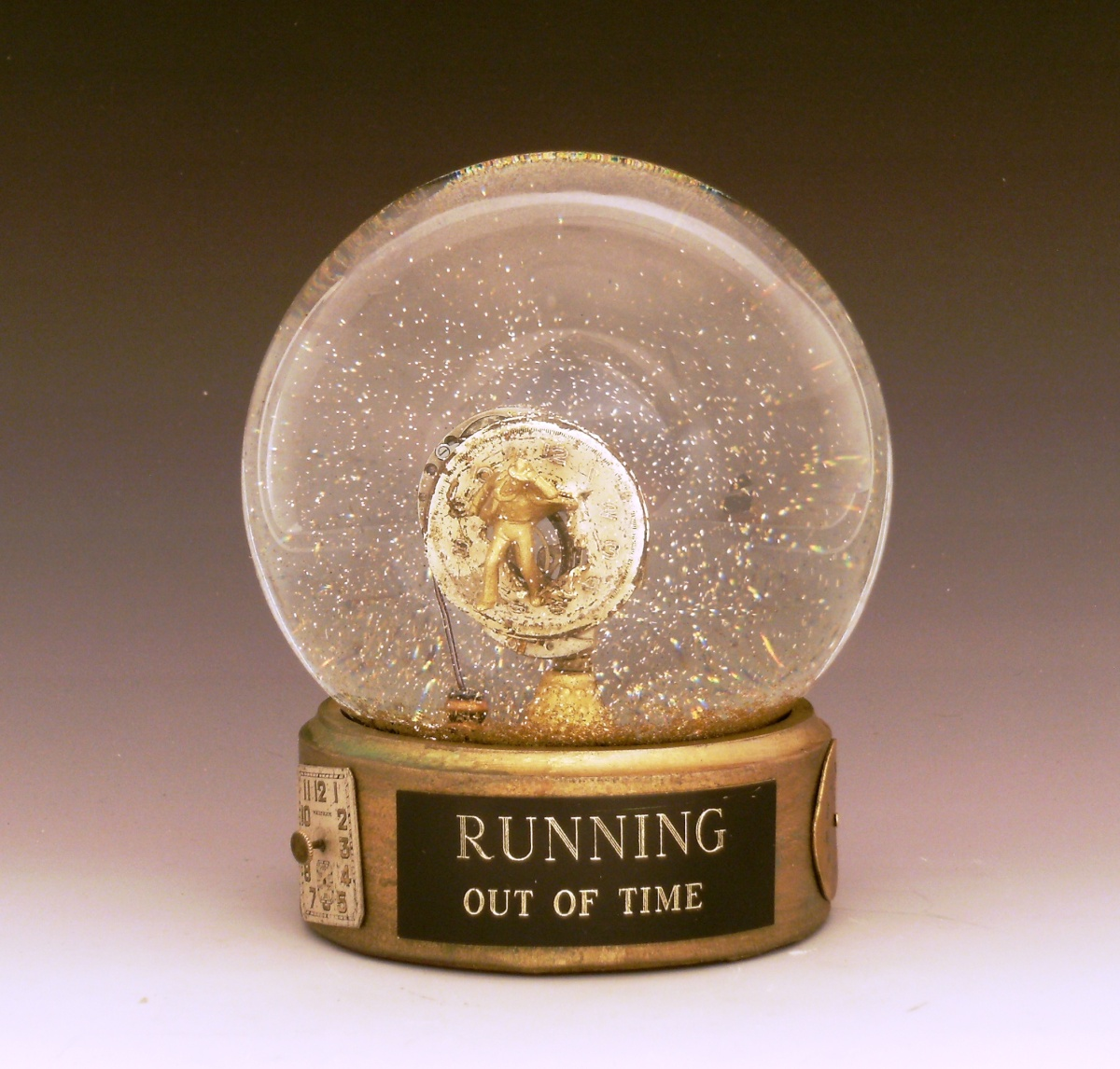 Running Out of Time_snowglobe by Camryn Forrest Design