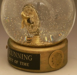 Running Out of Time snow globe