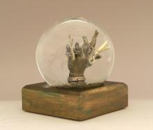 Scissorhands sparkle snow globe, Camryn Forrest Designs, 2015