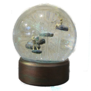 Long Winding Road custom snow globe, Camryn Forrest Designs 2015