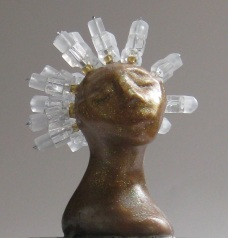 Chill, miniature head sculpture in snow globe, Camryn Forrest Designs, Denver Colorado