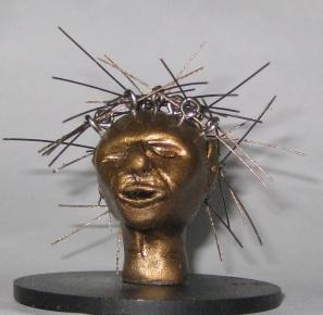 Networked, Miniature head sculpture, Camryn Forrest Designs, Denver Colorado