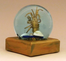 Rock Lobster sparkle snow globe, Camryn Forrest Designs, Denver, Colorado