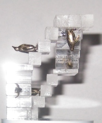 Perpetual penguins interior sculpture side