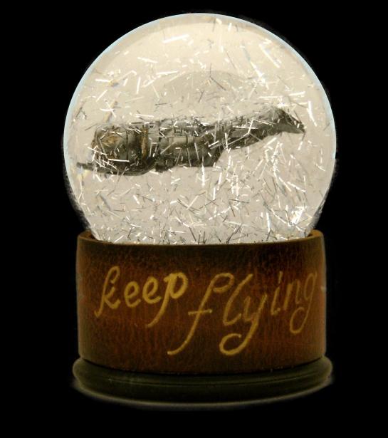 Keep Flying custom snow globe Camryn Forrest Designs Denver Colorado 2016