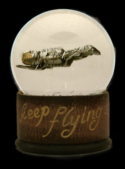 Keep Flying custom snow globe Camryn Forrest Designs Denver Colorado 2016