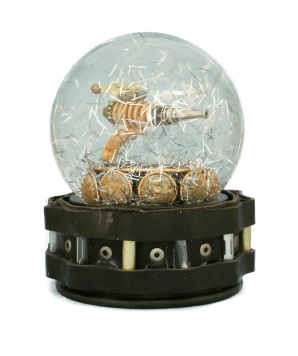 Ray Gun One snow globe Camryn Forrest Designs Denver, CO