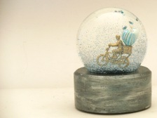 Special Delivery custom snow globe Camryn Forrest Designs, Denver Colorado
