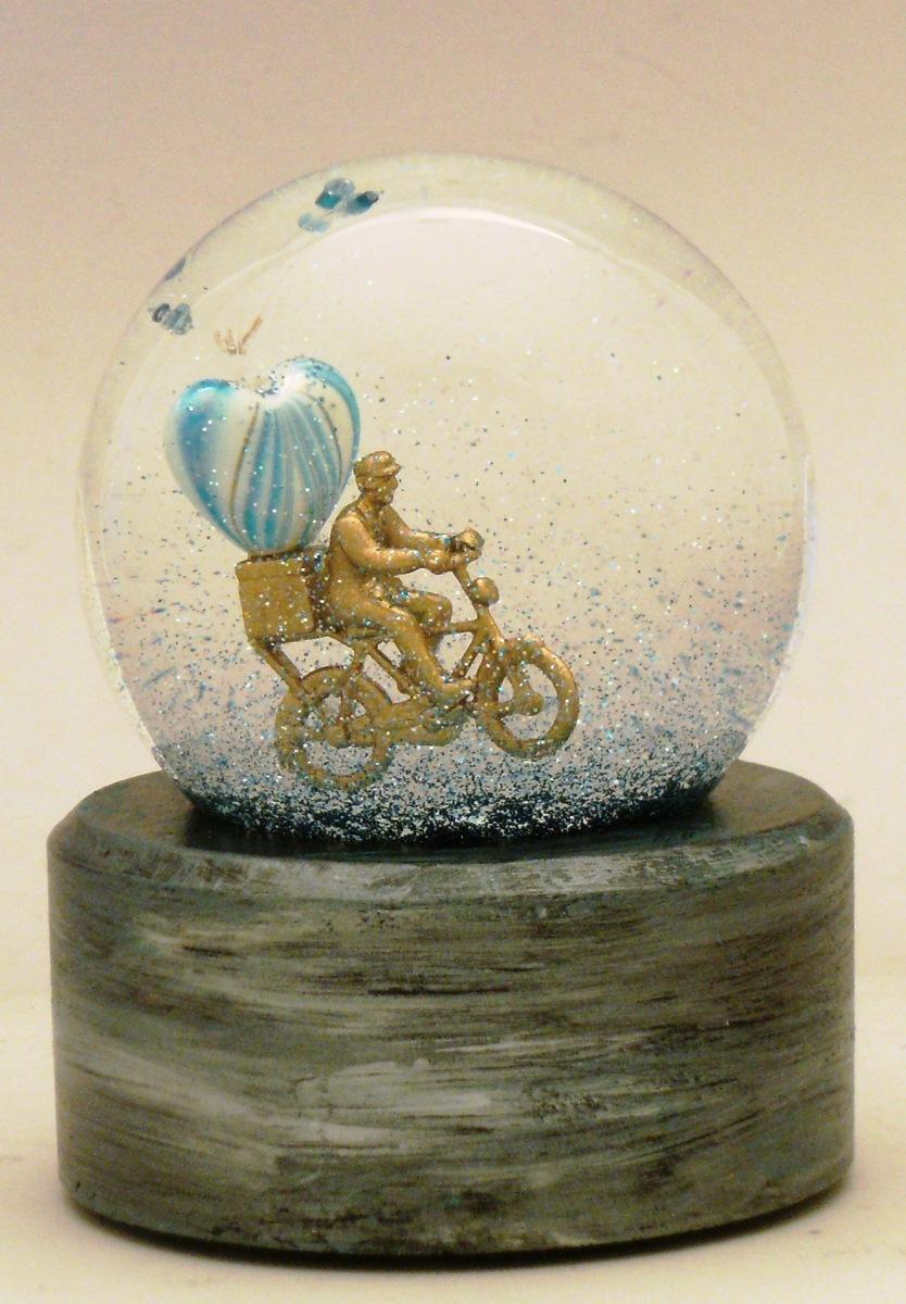 Special Delivery custom snow globe Camryn Forrest Designs, Denver Colorado