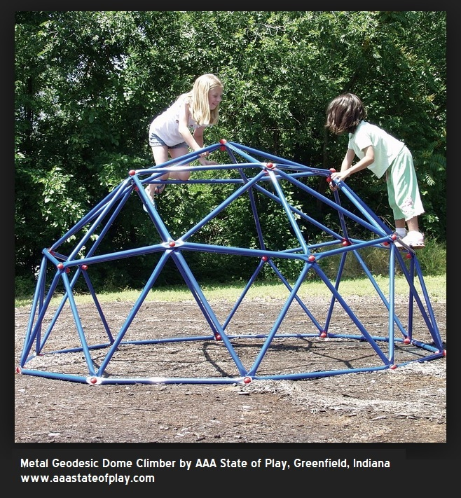 Playground dome climber by AAA State of Play, Greenfield Indiana