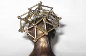 sculpture detail Geodesic Dome snow globe, Camryn Forrest Designs, Denver, Colorado