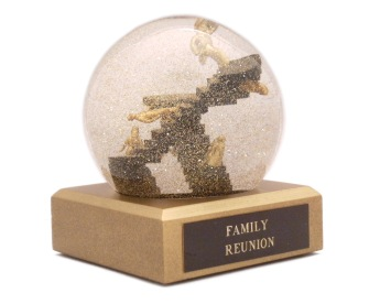Family Reunion snow globe Camryn Forrest Designs, Denver, Colorado USA