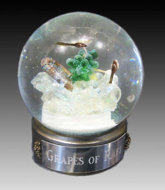 Grapes of Raft one of a kind snow globe, Camryn Forrest Designs Denver, Colorado USA