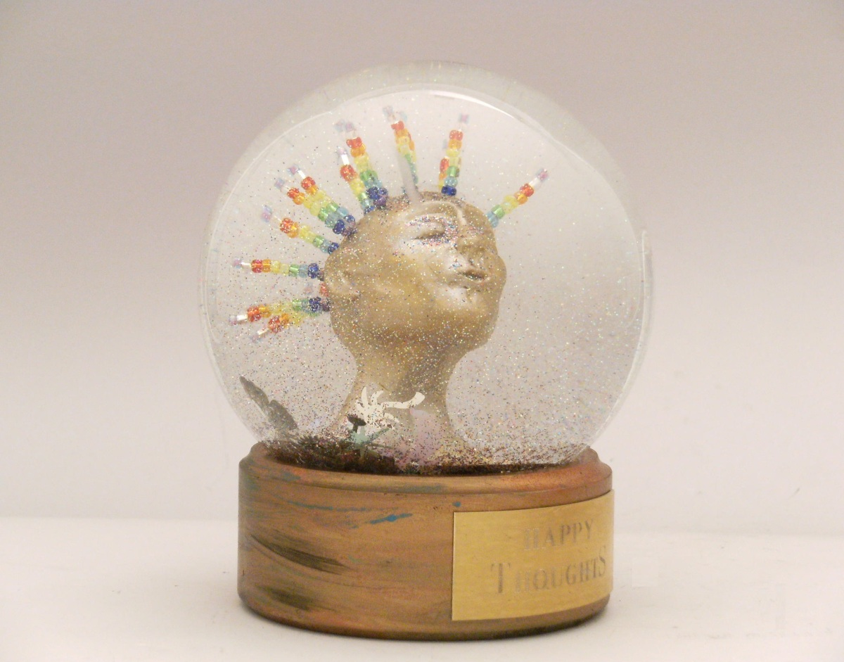 Happy Thoughts snow globe 2016 Camryn Forrest Designs, Denver, Colorado, USA