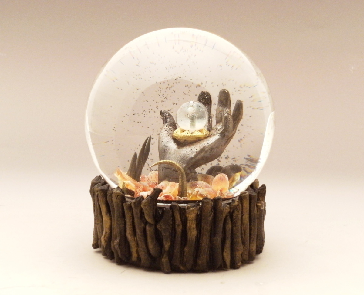 Hell&Back snow globe Camryn Forrest Designs, Denver, Colorado