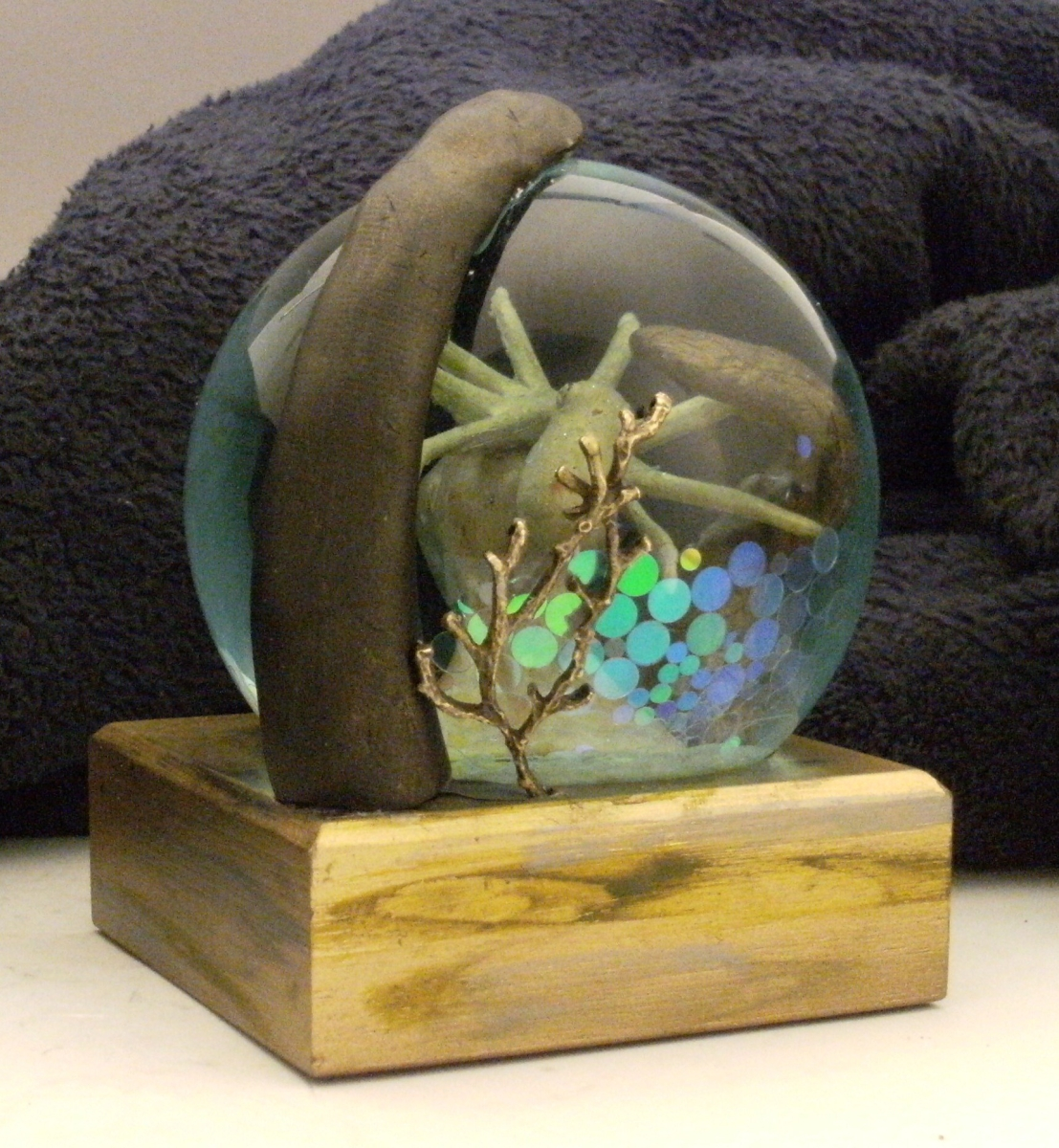 Octo-Thought snow globe Camryn Forrest Designs, Denver, Colorado, USA.