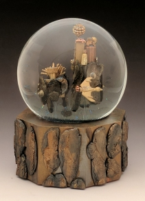 Sky Island City snow globe, Camryn Forrest Designs, Denver Colorado
