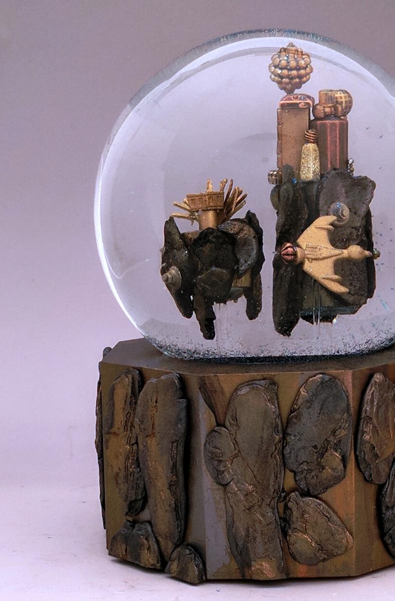Sky Island City snow globe, Camryn Forrest Designs, Denver Colorado