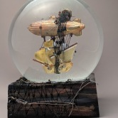 Destination Unknown snowglobe, Camryn Forrest Designs, Denver, Colorado USA 2018